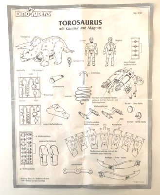 Dino Riders Instructions